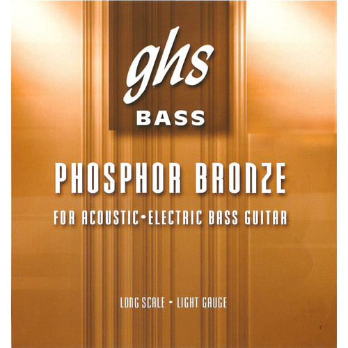 GHS PHB56 Phosphor Bronze Roundwound Electric and Acoustic Bass String (Single String, Long Scale, .056)