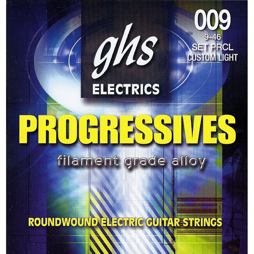 GHS PRCL Progressives Roundwound Custom Light Electric Guitar Strings (6-String Set, 9 - 46)