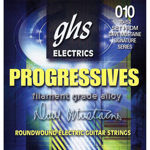 GHS PRDM Progressives Roundwound Dave Mustaine Signature Electric Guitar Strings (6-String Set, 10 - 52)