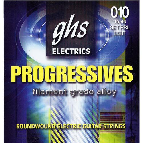 GHS PRL Progressives Roundwound Light Electric Guitar Strings (6-String Set, 10 - 46)