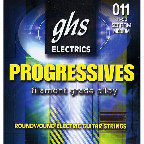 GHS PRM Progressives Roundwound Medium Electric Guitar Strings (6-String Set, 11 - 50)