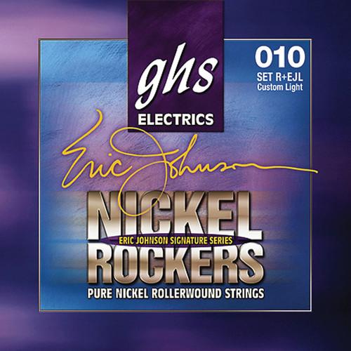 GHS R+EJL Nickel Rockers Eric Johnson Signature Light Rollerwound Electric Guitar Strings (6-String Set, 10 - 50)