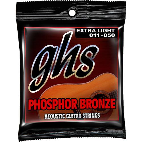 GHS S315 Extra Light Phosphor Bronze Acoustic Guitar Strings (6-String Set, 11 - 50)