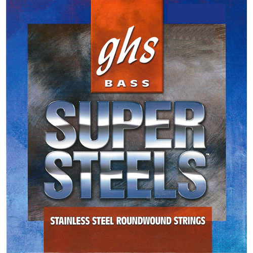 GHS STB106 Super Steels Roundwound Electric Bass String (Single String, Extra Long Scale, .106)