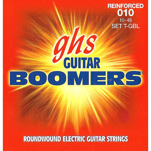 GHS T-GBL Reinforced Boomers Light Electric Guitar Strings (6-String Set, 10 - 46)
