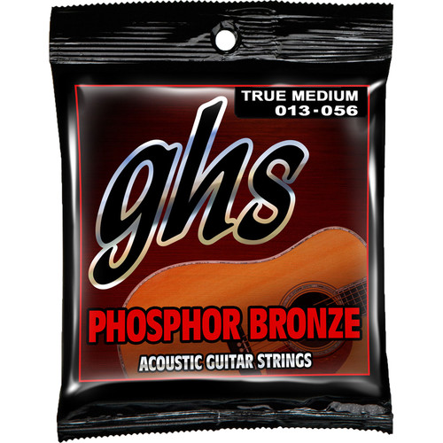GHS TM335 True Medium Phosphor Bronze Acoustic Guitar Strings (6-String Set, 13 - 56)