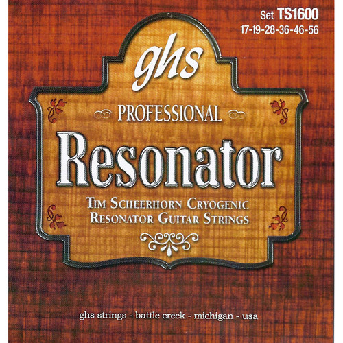 GHS TS1600 Tim Scheerhorn Signature Series Cryogenic Resonator Guitar Strings (6-String Set, 17 - 56)