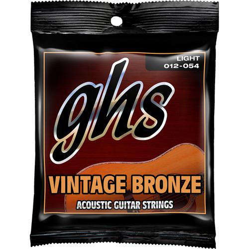 GHS VN-L Light Vintage Bronze Acoustic Guitar Strings (6-String Set, 12 - 54)