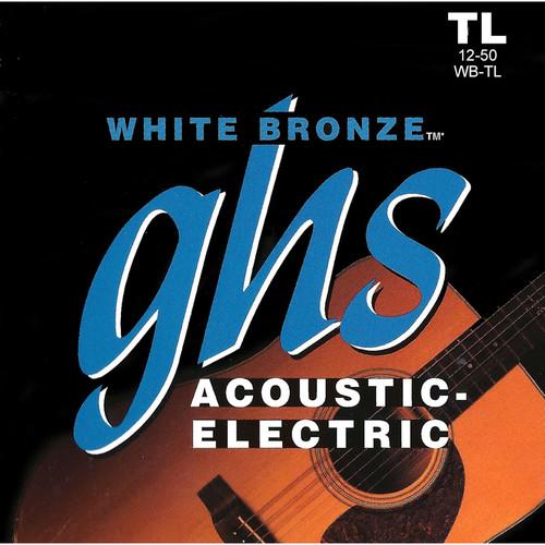 GHS WB-TL True Light White Bronze Acoustic/Electric Guitar Strings (6-String Set, 12 - 50)