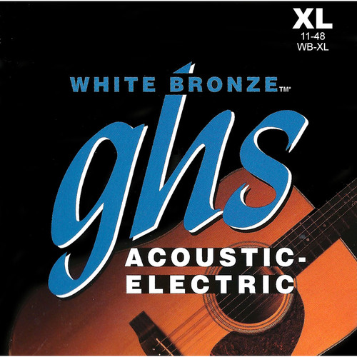 GHS WB-XL Extra Light White Bronze Acoustic/Electric Guitar Strings (6-String Set, 11 - 48)