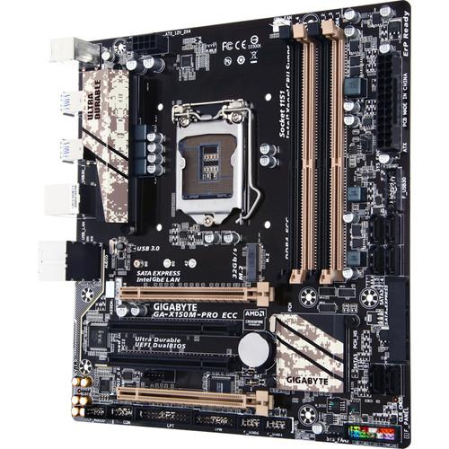 Gigabyte GA-X150M-PRO ECC LGA 1151 Micro ATX Motherboard (rev. 1.0)