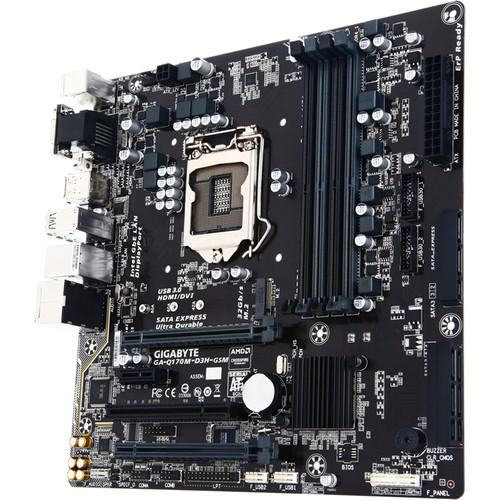 Gigabyte GA-Q170M-D3H-GSM LGA 1151 Micro ATX Motherboard (rev. 1.0)