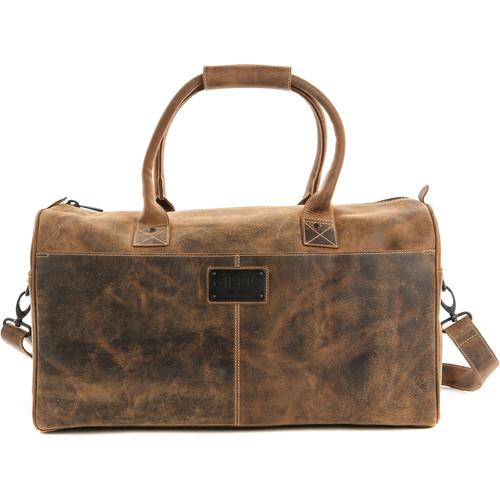 GILLIS LONDON Trafalgar Duffel Leather Camera Bag (Brown)