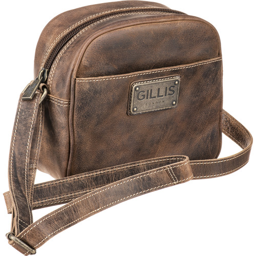 GILLIS LONDON Trafalgar Micro Camera Bag (Brown Vintage Leather)