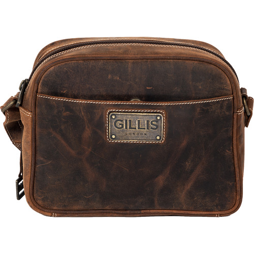 GILLIS LONDON Trafalgar Compact Camera Bag (Brown Vintage Leather)