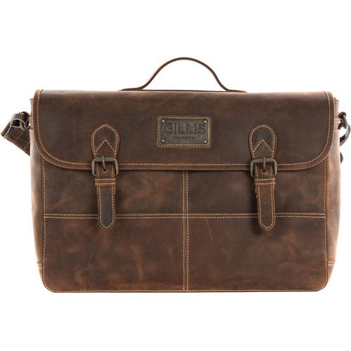 GILLIS LONDON Trafalgar Satchel Camera Bag (Brown Vintage Leather)