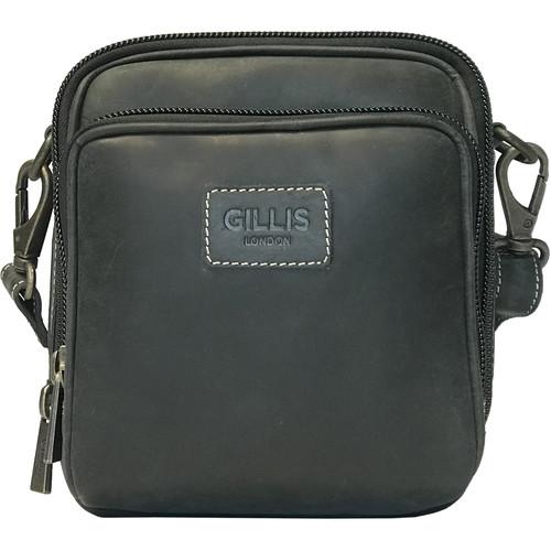 GILLIS LONDON Trafalgar Hands-Free Leather Camera Bag (Black)