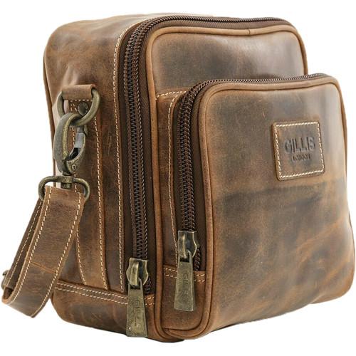 GILLIS LONDON Trafalgar Hands Free Camera Bag (Brown Vintage Leather)