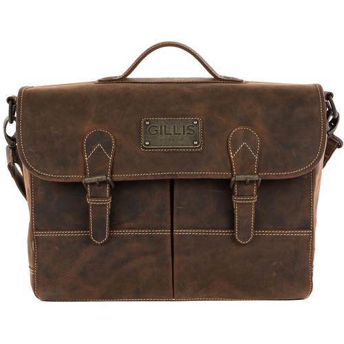 GILLIS LONDON Trafalgar Attache Camera Bag (Brown Vintage Leather)