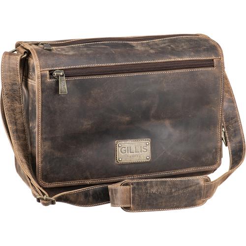 GILLIS LONDON Trafalgar Messenger Camera Bag (Brown Vintage Leather)