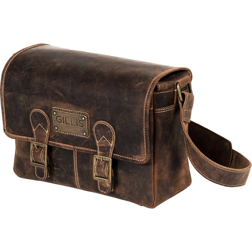 GILLIS LONDON Trafalgar Leather Handy Shoulder Camera Bag (Brown)