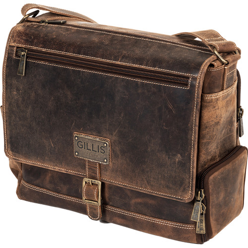 GILLIS LONDON Trafalgar Leather Messenger Bag (Brown)
