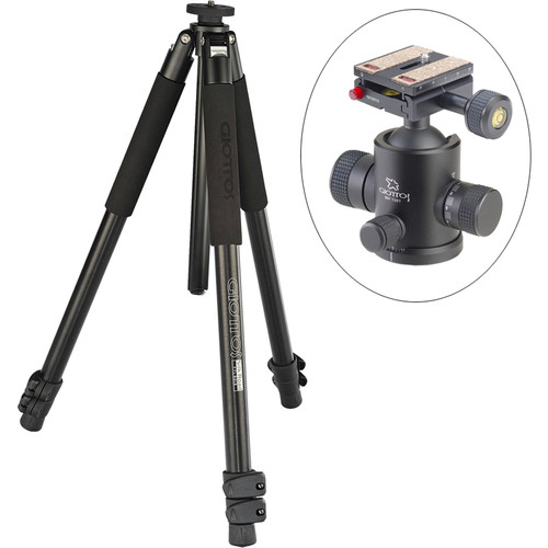 Giottos Classic Series 9213 Aluminum YTL Silk Road Tripod with MH-1301 Pro Series II Ball Head