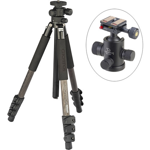 Giottos Pro Series 8354 Carbon Fiber YTL Silk Road Tripod with MH-1302 Pro Series II Ball Head