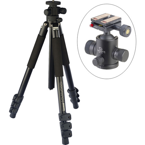 Giottos Pro Series 9314 Aluminum YTL Silk Road Tripod with MH-1301 Pro Series II Ball Head