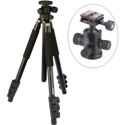 Giottos Pro Series 9354 Aluminum YTL Silk Road Tripod with MH-1302 Pro Series II Ball Head