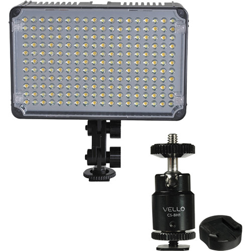 GiSTEQ Flashmate F-198C LED Video Light / Ball Head / Shoe Adapter Kit