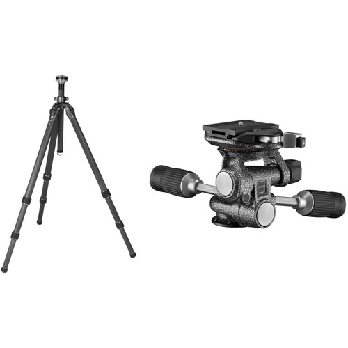 Gitzo GT3532 Mountaineer Series 3 Carbon Fiber Tripod with 3-Way Fluid Head Kit