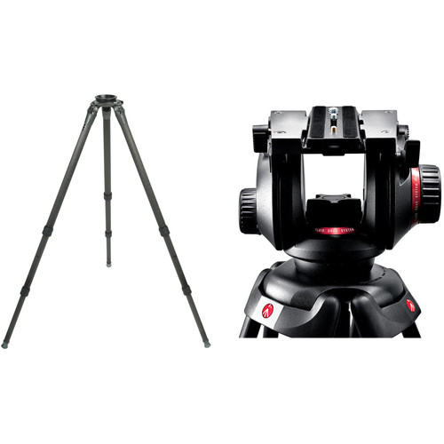 Gitzo Series 3 6X Systematic Carbon Fiber Long Tripod with Manfrotto 504HD 75mm Ball Head