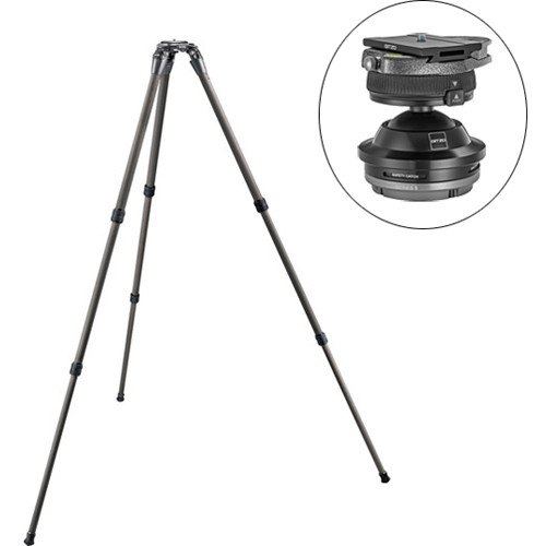 Gitzo GT-2532S 6X Systematic 3-Section Carbon Fiber Tripod Legs with Series 5 Systematic Ball Head Kit