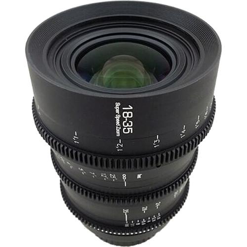 GL Optics 18-35mm T2 Super Speed Zoom Lens (PL Mount, 120° Focus Rotation)
