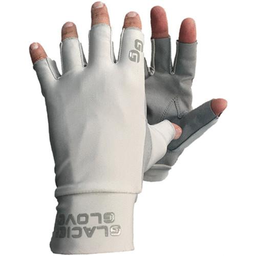 Glacier Glove Ascension Bay Fingerless Sun Gloves (Gray, Medium)