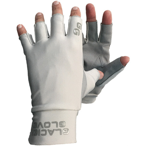 Glacier Glove Ascension Bay Fingerless Sun Gloves (Gray, Extra-Large)