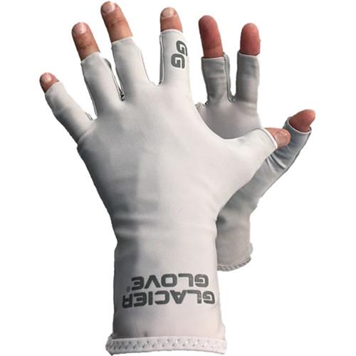 Glacier Glove Abaco Bay Sun Glove (Gray, Small/Medium)