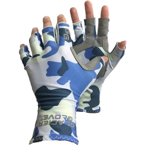 Glacier Glove Islamorada Sun Glove (Blue Camo, Large)