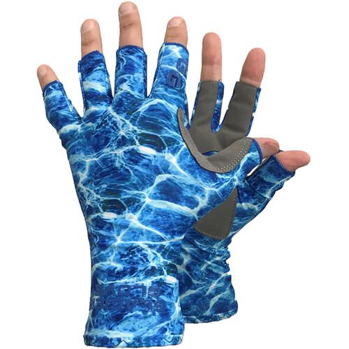 Glacier Glove Islamorada Sun Glove (Blue Camo, Medium)