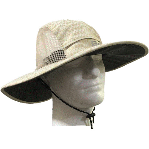 Glacier Glove Sand Harbor Hat (Medium, Khaki)