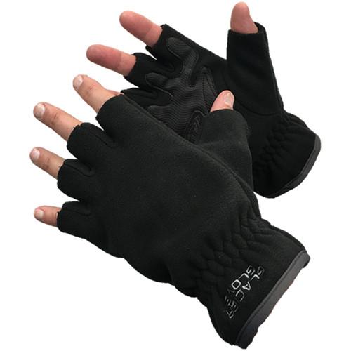 Glacier Glove Cold River Fingerless Gloves (Medium, Black)