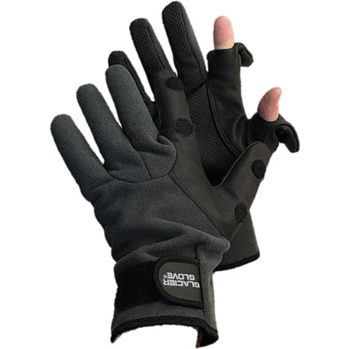 Glacier Glove Hybrid Slit Finger Fleece Glove (Large)