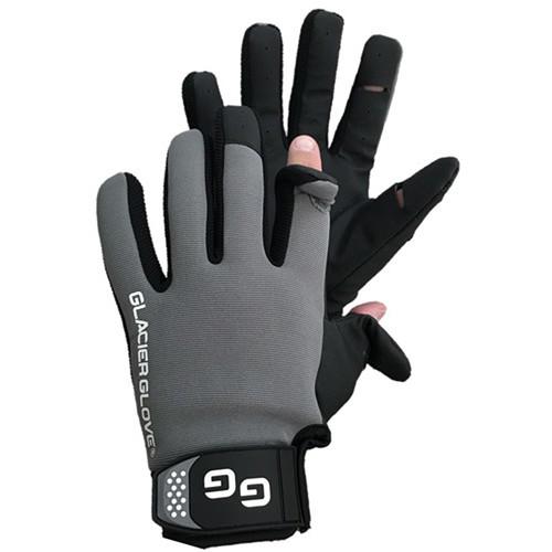 Glacier Glove Lightweight Pro Angler Slit Finger Glove (Large)