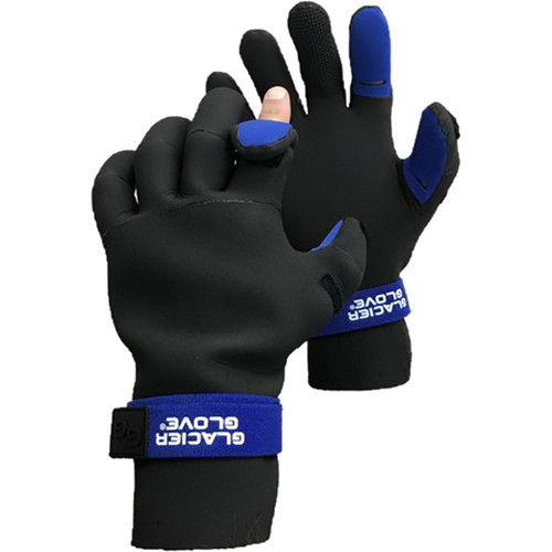 Glacier Glove Pro Angler Slit Finger Neoprene Glove (Large)