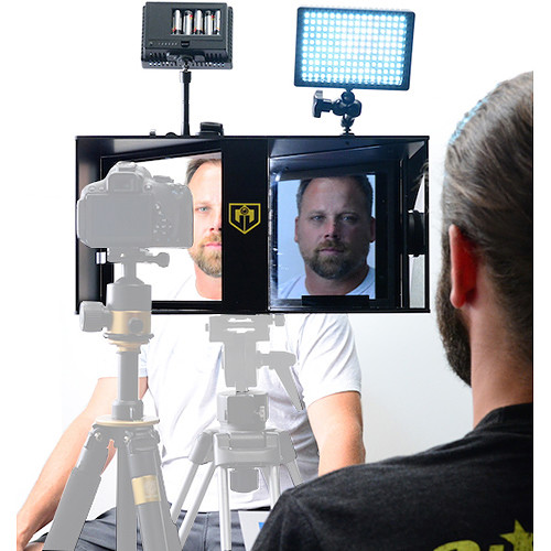 Glide Gear Face-2-Face Interview Periscope & Teleprompter Hybrid Deluxe