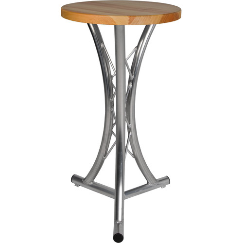 Global Truss 3.28' Truss Table with Solid Wood Top