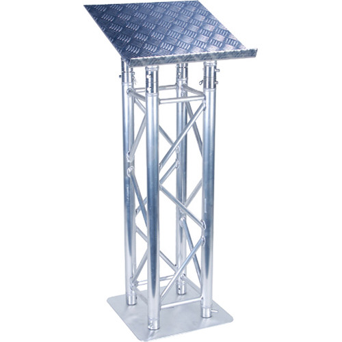 Global Truss F34 Truss-Style Lectern Assembly with Diamond Plate Finish Top