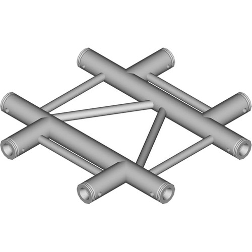 Global Truss 4-Way Horizontal Cross-Junction for F32 I-Beam Truss System (1.64')