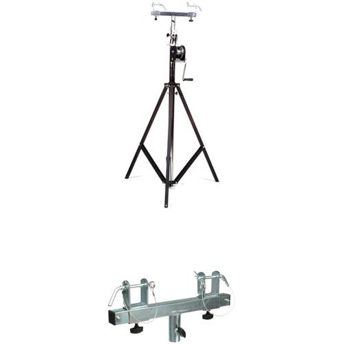 Global Truss Medium-Duty Crank Stand with Support Bar/Truss Adapter Kit
